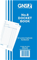 DUPLICATE CARBON DOCKET BOOK 559 NO 8 200MM X 125MM 8 X 5 50 LEAF 10PK