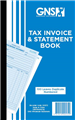 GNS 572 TAX INVOICE AND STATEMENT BOOK CARBON DUPLICATE 200 X 125MM 100 LEAF