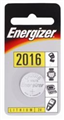 BATTERY CR2016 ENERGISER CALUCLATOR  GAMES BATTERIES 1PK