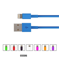 CABLE CHARGE  SYNC TO SUIT APPLE LIGHT CONNECT FUSEBOX 12M ASSORTED COLOURS