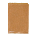 PAPER BAG 2F 2 FLAT LONG 240MM X 165MM BROWN 500PK