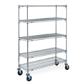 ACERACK MOBILE WIRE SHELVING 1800 X 1200 X 450MM CHROME