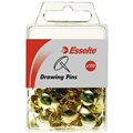 THUMB TACKS ESSELTE 45100 DRAWING PINS BRASS 150PK