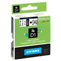 DYMO 45013 D1 LABEL TAPE 12MM X 7M BLACK ON WHITE