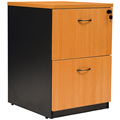 YS DESIGN OXLEY 2 DRAWER FILING CABINET 476X550X700MM BEECH IRONSTONE