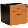 OXLEY 1 DRAWER AND 1 FILE FIXED PEDESTAL 472 X 470 X 450MM BEECHIRONSTONE