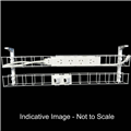 RAPID DUAL TIER CABLE BASKET 1250MM  GPO X 4  DATA TILES X 2  LEAD LENGTH 2M
